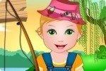 Bébé Juliet à la pêche