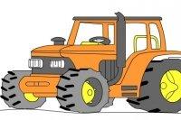 Coloriage de tracteur