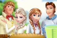 Elsa et Anna en Pique-nique