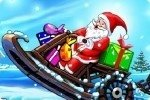 Père Noël en scooter des neiges 2