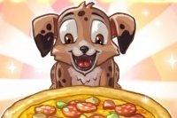 Pizza avec le Chiot