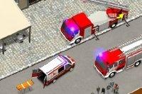 Relier le camion de pompiers