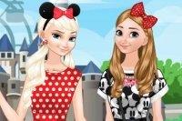 Sœurs Frozen à Disneyland