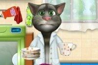 Tom fait la vaisselle