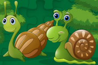 Puzzle Blocs Escargots Mignons