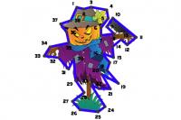 Puzzle Lignes Halloween